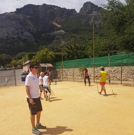 Concentración de la Selección FAM de Marcha Nórdica para preparar el Campeonato de España
